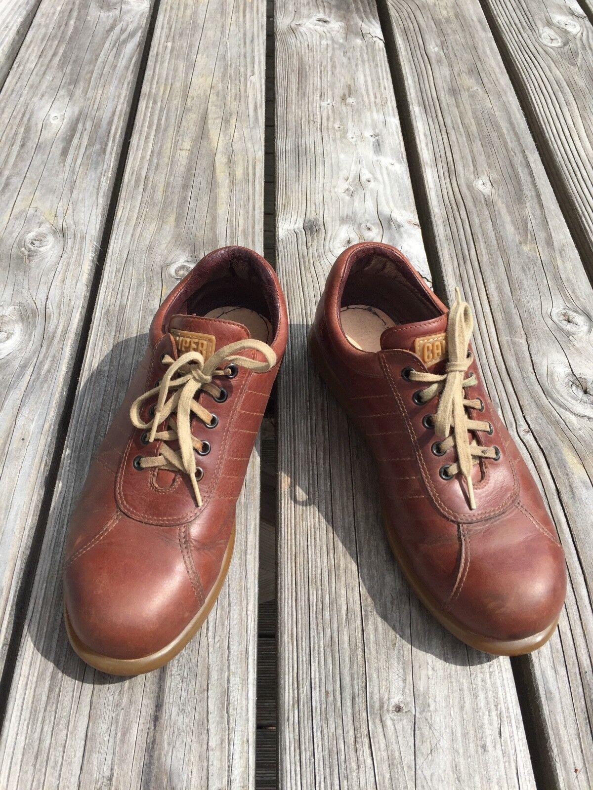 Camper Pelotas Braun Gr. 42 gebraucht Sneaker Halbschuh Leder