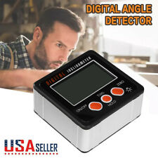 Digital Protractor Gauge Level Angle Finder Inclinometer Magnet Base Detector