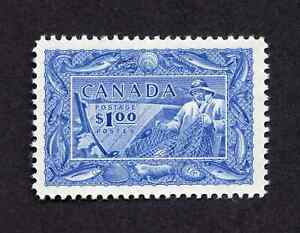 Canada #302 $1.00 Bright Ultramarine Fishing Resources Issue MH