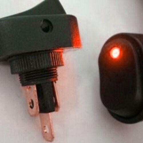 10 X Red LED Light 12V 30Amp 30A Car Boat Auto Rocker SPST Toggle Switch