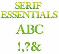 Sizzix Bigz Serif Essentials Alphabet Set 655128 Msrp $149.99 Designer El Smith