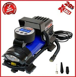 Digital Tire Inflator EPAUTO 12V DC Portable Air Compressor Pump