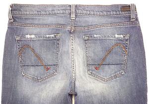 Guess-Women-039-s-Jeans-Premium-Flare-Leg-Distressed-Blue-Wash-Denim-Jean-Size-29