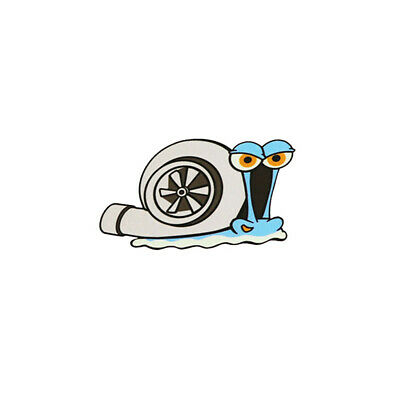 Details about  /Turbo Snail Logo Permanent Adhesive Vinyl Decal Sticker Car//Wall//Laptop,etc