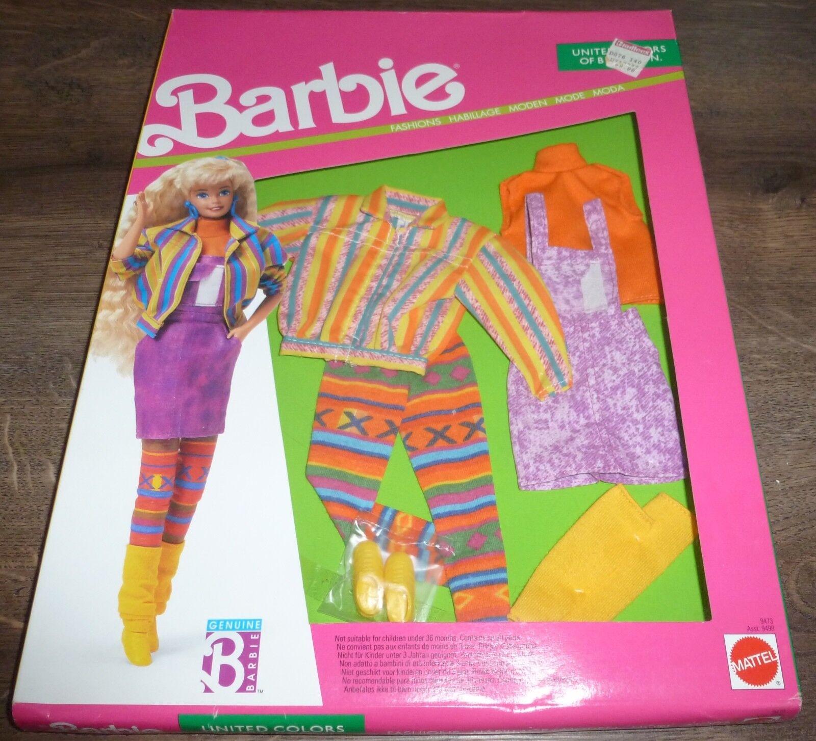 SUPER RARA Inscatolato Nuovo di 1990 VINTAGE BENETTON Bambola Barbie mai tolto dalla scatola di moda.