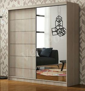 Image Is Loading Wardrobe Full Mirror Door 150cm 2 Sliding