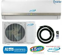 18000 Btu Ductless Mini Split Air Conditioner Seer 15 Cool & Heat Inverter