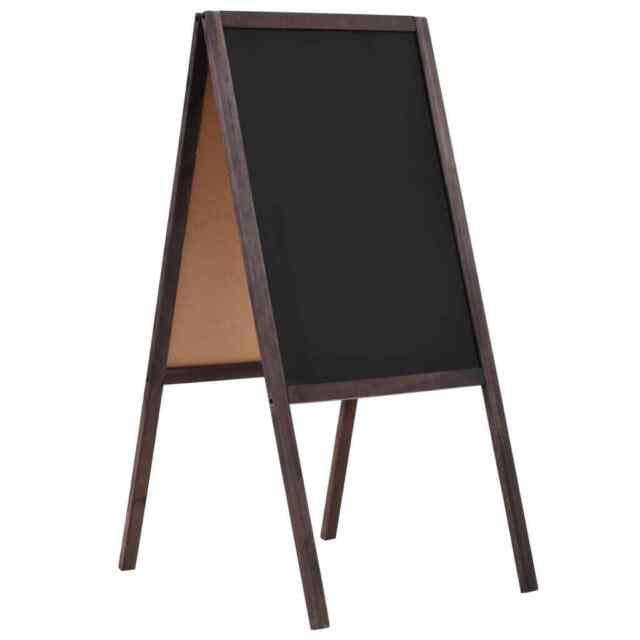 vidaXL Tafel Beidseitig Holz 40x60cm Kreidetafel Aufsteller Kundenstopper