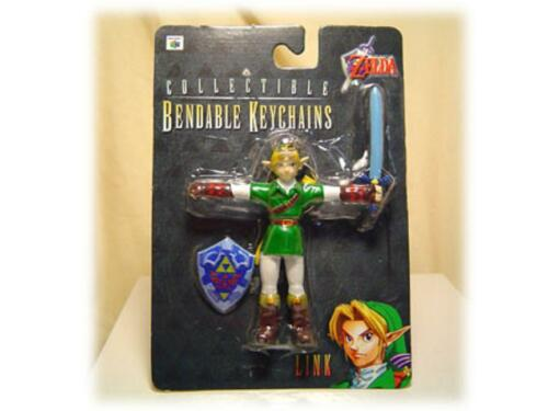 1998 Legend of Zelda Ocarina of Time Link Pliable Keychain Figurine