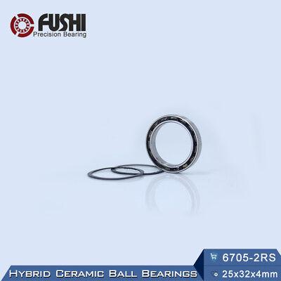 QTY 10 17x23x4 mm 6703-2RS HYBRID CERAMIC Si3N4 Ball Bearing Bearings 6703RS
