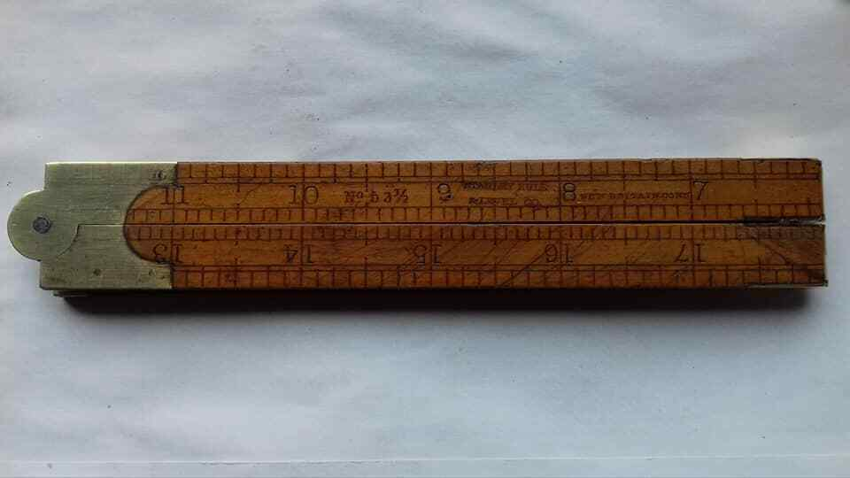 Antique folding rule,1860s, Stanley Rule and Level Co. No. 53 ½ ,Carpenters tool