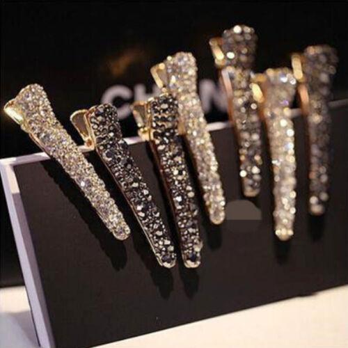 Women Bling Headwear Crystal Rhinestone Hair Clip Barrette Hairpin Accessories