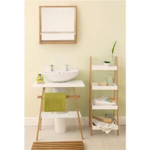 Stupendous Details About Bamboo Bathroom Furniture Suite Set Under Sink Basin Mirror Storage Shelf Home Interior And Landscaping Mentranervesignezvosmurscom