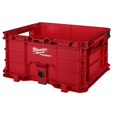 Tool Storage Crate Bin Milwaukee Packout 186 In Durable Modular Crate Tool Box