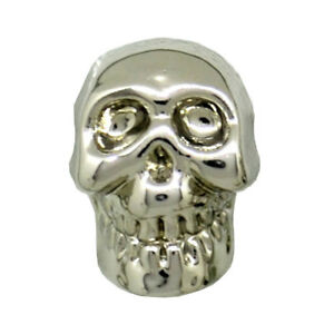 SILVER SKULL SHANK BUTTON 12.5mm