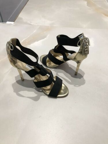 Jimmy Choo 38,5 Uk 5 Oro E Nero Tacchi, Elegante Party!