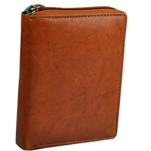 1 Geldbörse mit RundumReißverschluß und 1 große Schlüsselbox in feinem Rindleder