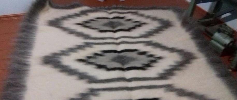 Blanket Sheepskin 100% Wool Sheep Handmade Plaid Healing Medical Coverlet Wrap