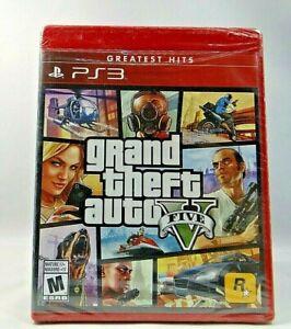 Grand Theft Auto V GTA 5 (Sony Playstation 3, Greatest Hits 2013) PS3 NEW