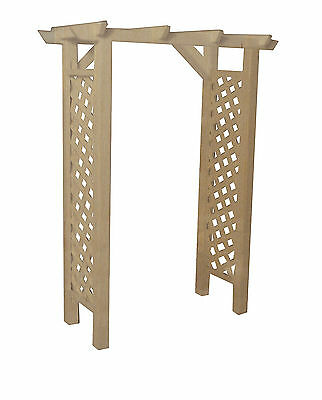 1:12 Scale White Painted Wood Garden Arbour /& Seat Tumdee Dolls House Miniature