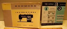 Kenmore Model 21 Manual Instructions for Vintage Sewing Machine Original Japan