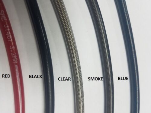 """3an Stainless Brake Hose Line Braided 3 AN Straight 24/"""" Long"""