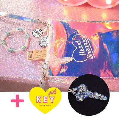 Stylish Harajuku Girl Messenger Bag Laser Transparent Packet Colorful Key Chain