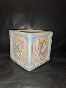 free shipping Napco Baby Room Decor Blue Lamb 1960/'s Japan Vintage Planter