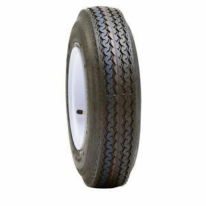 Utility Boat Trailer Tire Wheel Assembly 15x5 5 4 5 White Spoke