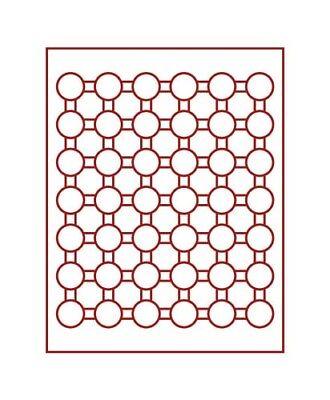 Expressief Lindner 2929 Coin Box-smoked Glass / Dark Red Insert