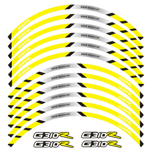 MOTORCYCLE RACING RIM STRIPES WHEEL DECAL TAPE STICKER FOR BMW G310R G 310R