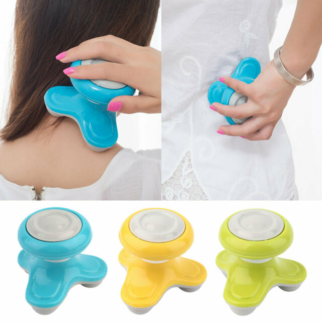 Mini Electric Handled Wave Vibrating Massager USB Battery Full Body Massage MT