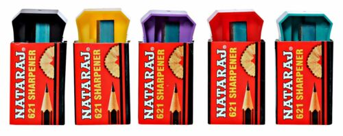 20X Nataraj 621 Pencil Sharpener home school office STATIONARY 5 color