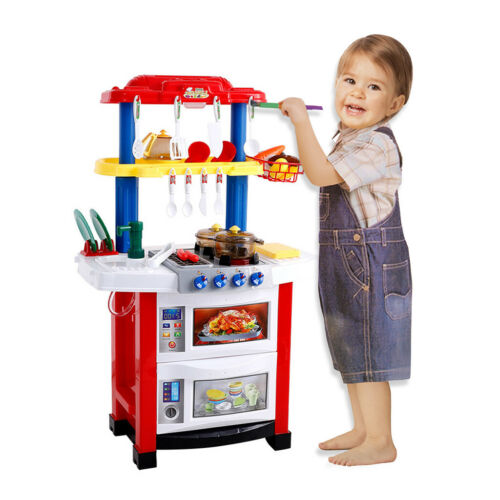 Kids Pretend Cooking Playset Cookware Play Set Kitchen Parent-Child Toys Toddler