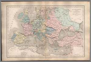 Carte Europe Charles Quint.Collections Carte Map Ancienne Europe Charles Quint 1861 Be Original