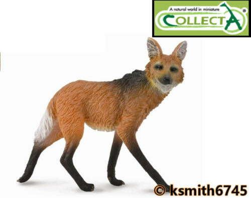 NEW * CollectA MANED WOLF solid plastic toy wild zoo animal predator