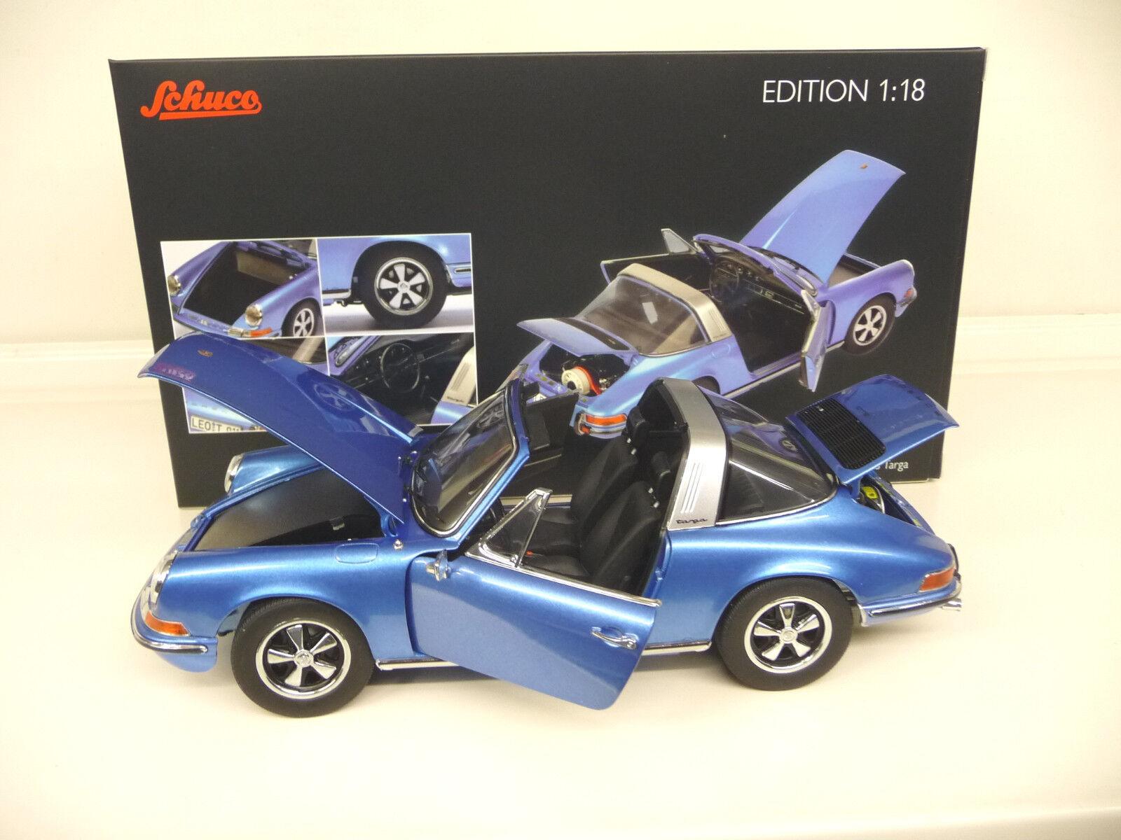 1 18 Schuco PORSCHE 911 S 2.4 Targa 1973 bluee NEW FREE SHIPPING WORLDWIDE