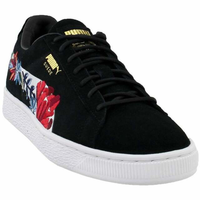 Puma Suede Hyper Embellished Sneakers Casual Black Womens
