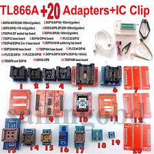 TL866A programmer 20 adapters IC Clip TL866 Bios PLCC MCU EPROM ICSP Programmer