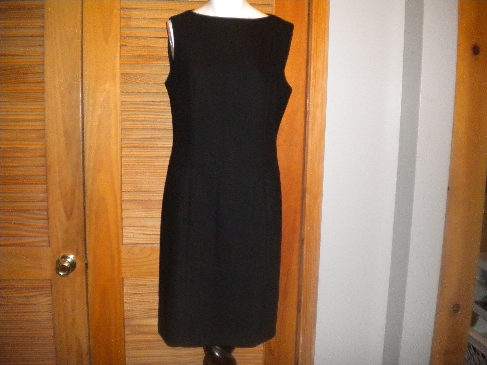 Giorgio Armani Le Collezioni Wool Sheath Career Dress Simple Lines Size 10