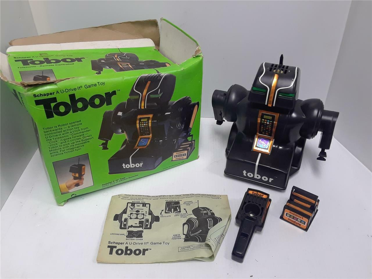 Vintage 1978 Schaper Telesonic Remote Controlled RC Robot In Box Works