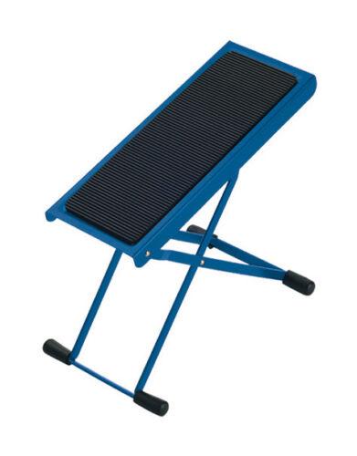 Fuß Bank Schemel Gitarre blau K/&M 14670 rutschfest Höhe einstellbar