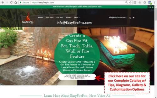 DIY Fire Table Stainless Steel Drop In Inserts// Heavy Duty Pans by EasyFirePits