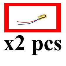 2pcs 650nm 6mm 5V 5mW Adjustable Laser Dot Diode Module Red Copper Head