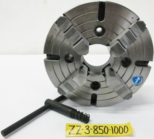 "10"" 4 Jaw Independent Manual Chuck Plain Back TMX Brand 3-850-1000"