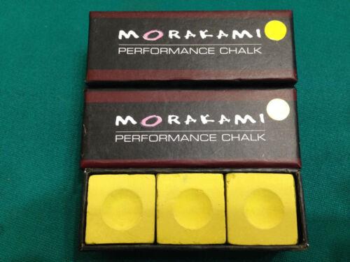 $ave! Morakami Chalk BLONDE Pool Cue Chalk 3 Pieces Performance Chalk
