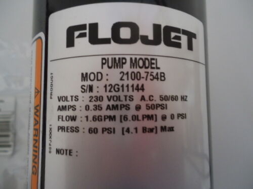 Jabsco ITT Flojet Self-priming diaphragm pump w// AC electric motor 2100-754B