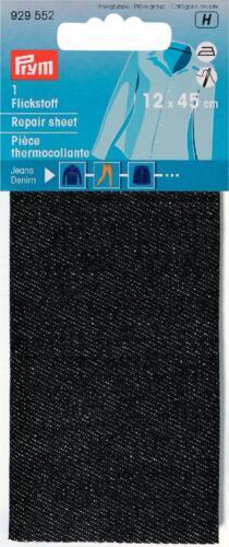 aufbügelbarer Flickstoff 12x45cm Jeans schwarzPRYM 929552