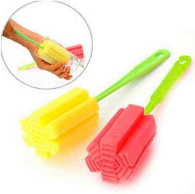 Kitchen Cleaning Tool Sponge Brush For Wineglass Bottle Coffe Tea Glass Cup jd