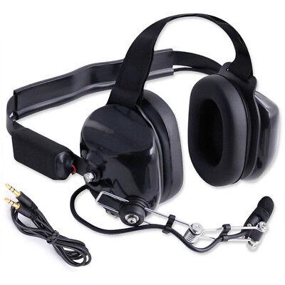 2 Behind The Head Headsets w// 2 pin KENWOOD  Cords Racing Radios Electronics BTH
